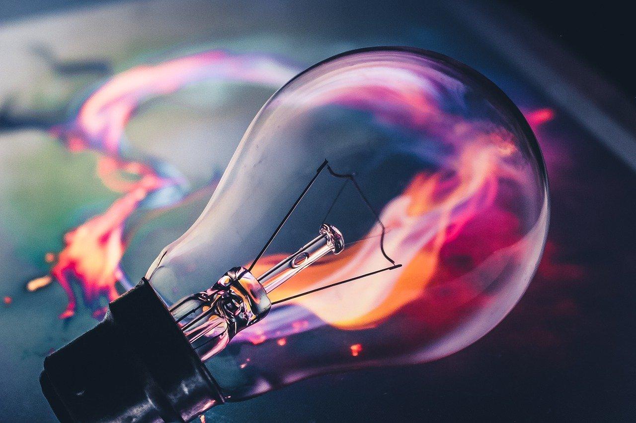 Image of a lightbulb to represent creativity