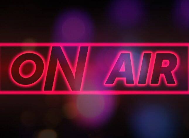 An image showing the words 'On Air' to depict the podcats which feature in this case study
