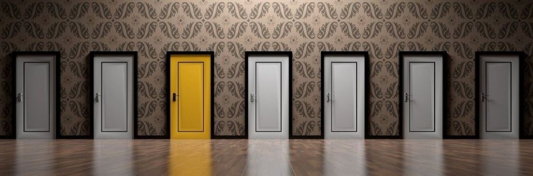 Coloured Doors image to indicate Outsourced Engagement opens doors